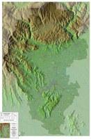 Carta fisica e rete idrogeografica del territorio